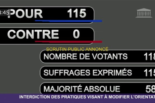 Résultat du vote